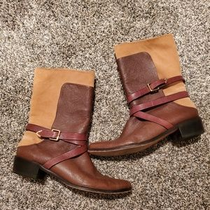 Rebecca Minkoff Sabas Leather Suede Boots 39